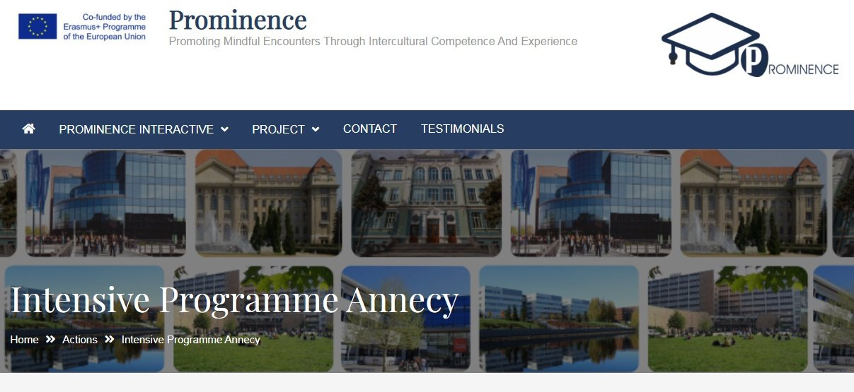 PROMINENCE: IP 2020 Annecy, France - резултати от селекция за участие