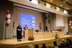 Levon Hampartzoumian was awarded the honorary degree of Doctor honoris causa