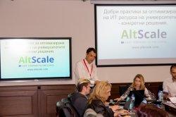 """Дилян Попов - Мениджър по въпроси с образованието представя """"Добри практики за оптимизиране на ИТ ресурса на университетите"""" /AltScale/"""